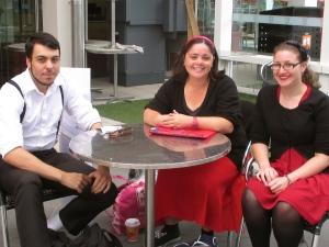 Dimitri, Bev and Melissa at Swinburne University 0-Week 2014.